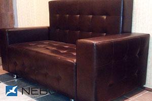Кровать из кожи - №814 - Стильная мебель - Мурано