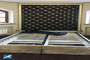 Кровать из кожи - №930 - Небо-мебель - Кровать