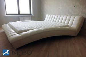 Кровать из кожи - №324 - Коно-Мебель - Текна