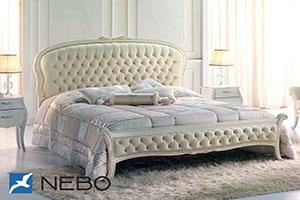 Кровать из кожи - №330 - Коно-Мебель - Фиокко