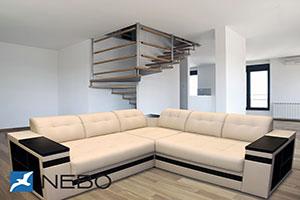 Угловой диван - №624 - Небо-мебель - Тор